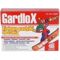 Gardlox Junior pastylki ziołowe o smaku pomarańczowym 16 sztuk