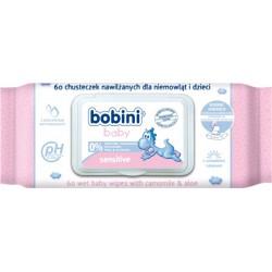 Bobini Baby Chusteczki nawilżane Sensitive 60szt.