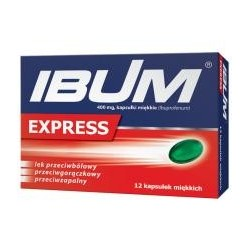 Ibum Express 400 mg kapsułki 12 kaps.