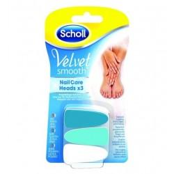 Scholl Velvet Smooth Nail Care Heads wymienne nasadki 3szt.