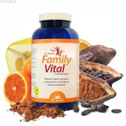 FamilyVital proszek z witaminami o smaku kakaowym 325g