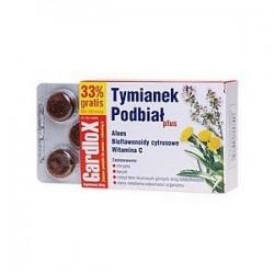 Gardlox Tymianek  Podbiał plus pastylki do ssania 16 sztuk + 8 gratis