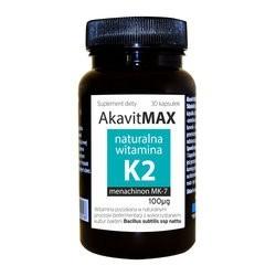 Akavit max naturalna witamina K2 30 kapsułek