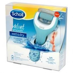 Scholl Velvet Smooth Wet&Dry elektryczny pilnik do stóp z ładowarką 1 szt.