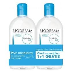 Bioderma Hydrabio H2O płyn micelarny 500ml + Bioderma Hydrabio H2O płyn micelarny 500 ml GRATIS