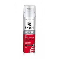 AA Men Power żel do golenia zmiękczający zarost 200 ml