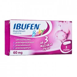 Ibufen Baby 60 mg czopki 5 czopków