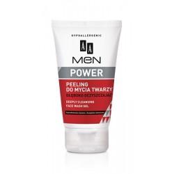 AA Men Power peeling do mycia twarzy głęboko oczyszczający 150 ml