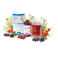 Napój witalny zestaw FizjoBalans proszek 300g 1 op. + Lactirelle płyn 100 ml 2 op.
