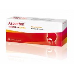 Aspecton tabletki na gardło o smaku czarnej porzeczki 30 sztuk