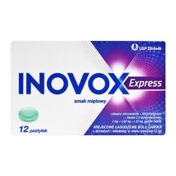 Inovox Express smak miętowy 12 pastylek do ssania