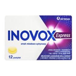 Inovox Express smak miodowo-cytrynowy 12 pastylek do ssania