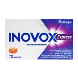 Inovox Express smak pomarańczowy 12 pastylek do ssania
