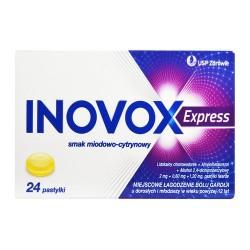 Inovox Express smak miodowo-cytrynowy 24 pastylki do ssania