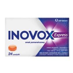 Inovox Express smak pomarańczowy 24 pastylki do ssania
