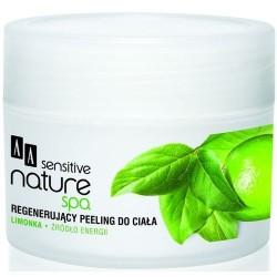 AA Sensitive Nature Spa Limonka regenerujący peeling do ciała 200 ml