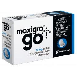 Maxigra Go 25 mg tabletki do rozgryzania i żucia 2 tabl.