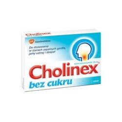 Cholinex bez cukru 150 mg pastylki 24 past.