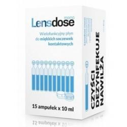 Lensdose Mono płyn do miękkich soczewek kontaktowych 15 amp. x 10 ml