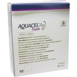 AQUACEL Ag Foam  antybakteryjny opatrunek piankowy na rany 10cm x 10cm 1szt.