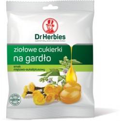 Dr Herbies ziołowe cukierki na gardło smak miętowo-euakaliptusowy 70 g