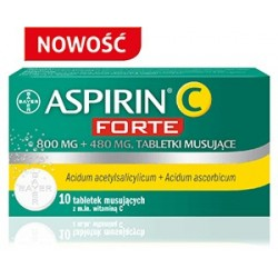 Aspirin C Forte tabletki musujące 10 tabl. mus.