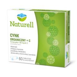 Naturell Cynk organiczny + C tabletki do ssania 60 tabl.