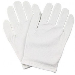 Bawełniane rękawiczki kosmetyczne rozmiar uniwersalny 1 para