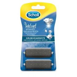 Scholl Velvet Smooth 2 wymienne głowice obrotowe gruboziarniste z kryształkami diamentu 1op.