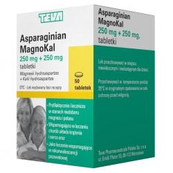 Asparaginian Magnokal Teva 50 tabletek