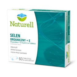 Naturell Selen organiczny + E tabletki do ssania 60 tabl.