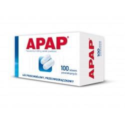 Apap 500 mg tabl. powlekane 100 tabl.
