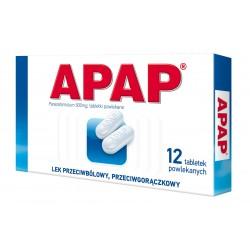 Apap 500 mg tabl. powlekane 12 tabl.