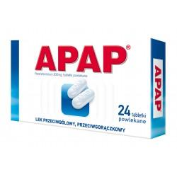 Apap 500 mg tabl. powlekane 24 tabl.