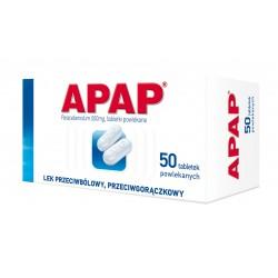 Apap 500 mg tabl. powlekane 50 tabl.