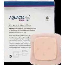 AQUACEL Ag Foam Adhesive przylepny antybakteryjny opatrunek piankowy na rany 10cm x 10cm 1szt.