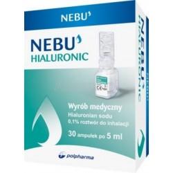 Nebu Hialuronic 0,1% ampułki do inhalacji 30 amp.
