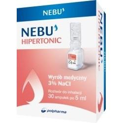 Nebu Hipertonic 3% ampułki do inhalacji 30 amp.