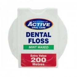 Active Dental Floss nić dentystyczna miętowa woskowana 200m