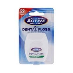 Active Dental Floss nić dentystyczna miętowa woskowana 100m