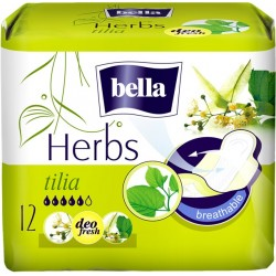 Bella Herbs podpaski wzbogacone kwiatem lipy 12 szt.