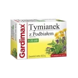 Gardimax Tymianek z Podbiałem + 20 ziół pastylki do ssania 24 past.