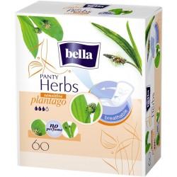 Bella Panty Herbs Sensitive plantago wkładki higieniczne wzbogacone babką lancetowatą 60 szt.