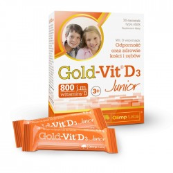 Gold-Vit D3 Junior o smaku malinowym saszetki 30sasz.