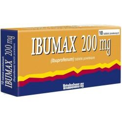 Ibumax 200 mg tabletki powlekane 10tabl.