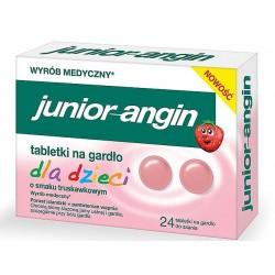 Junior-Angin tabletki na gardło dla dzieci 24 tabl.