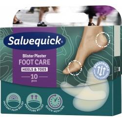Salvequick FOOT CARE mix plastry na pęcherze i otarcia różne 10 sztuk