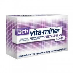 Acti Vita-miner Prenatal + DHA 2 (Vita-miner Prenatal + DHA 2) 30 tabletek + 30 kapsułek 60 szt.