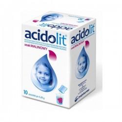 Acidolit o smaku malinowym saszetki 10 sasz.
