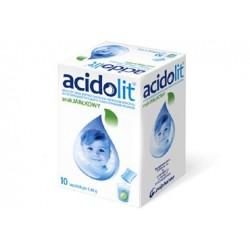 Acidolit o smaku jabłkowym saszetki 10 sasz.